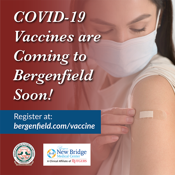 Vaccines coming to Bergenfield